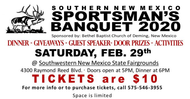 Southern New Mexico Sportsman's Banquet 2020